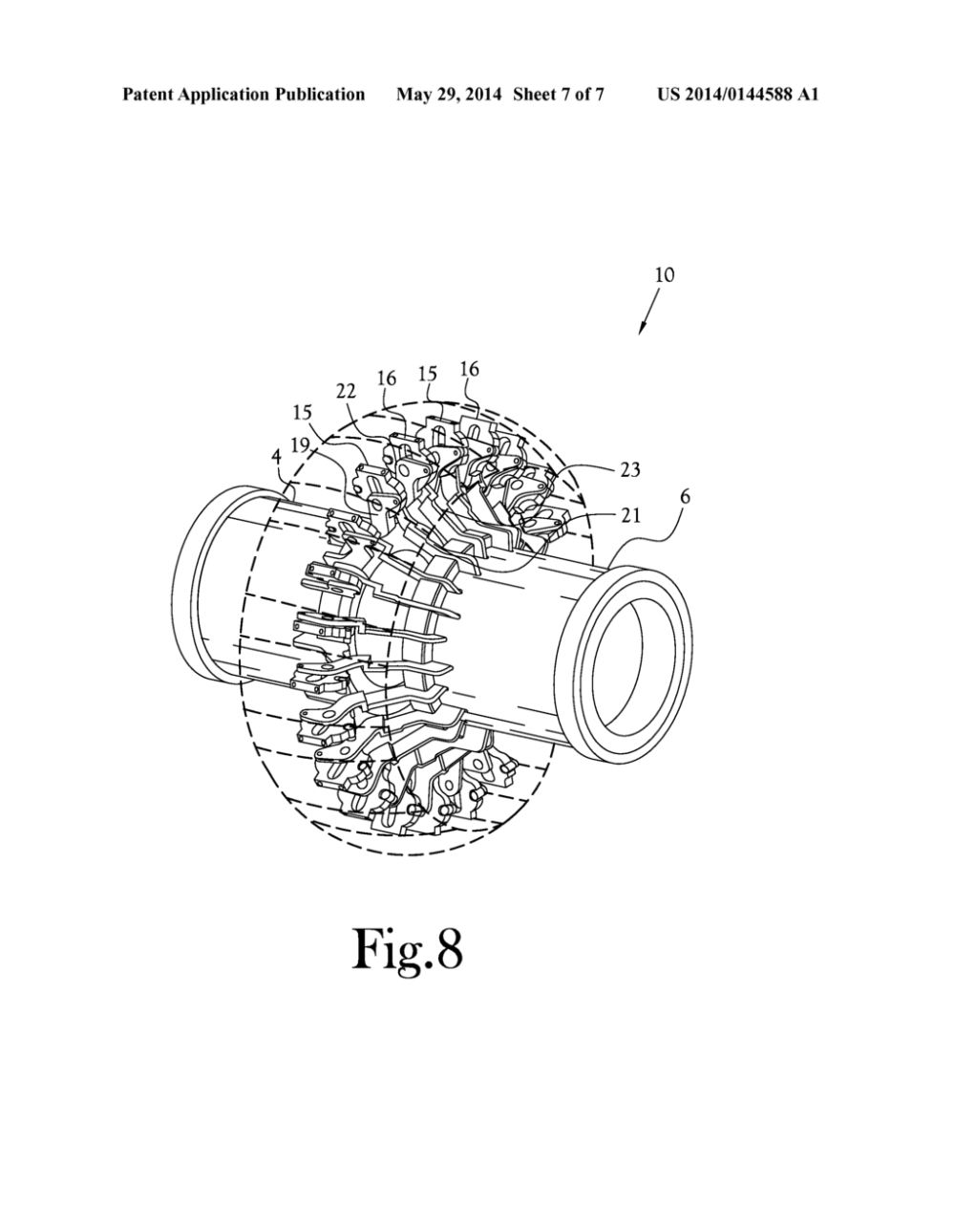 medium resolution of tire building drum having sequenced segment expansion diagram schematic and image 08