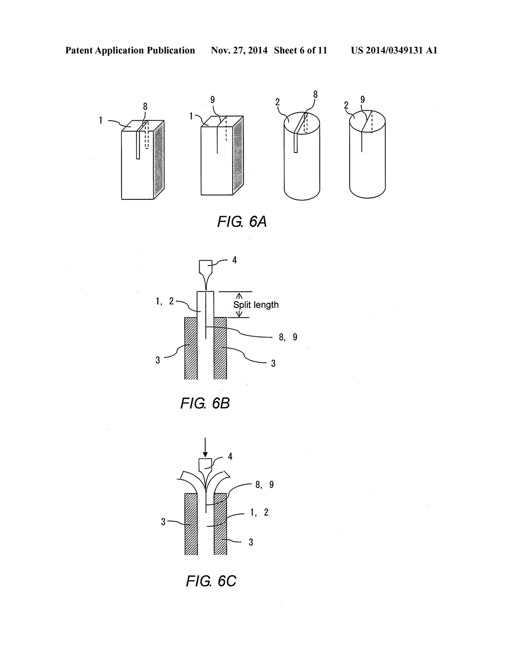 hight resolution of method for splitting end part of metal plate or metal rod metal parts manufactured by such end splitting method and method for bonding such metal parts