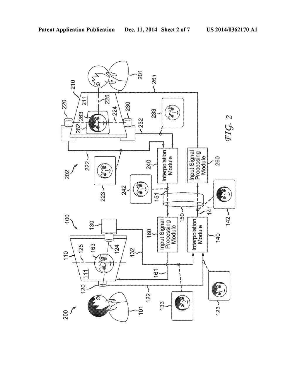 hight resolution of video conference system and method for maintaining participant eye contact diagram schematic and image 03