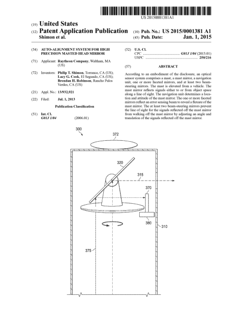 small resolution of auto alignment system for high precision masted head mirror diagram schematic and image 01