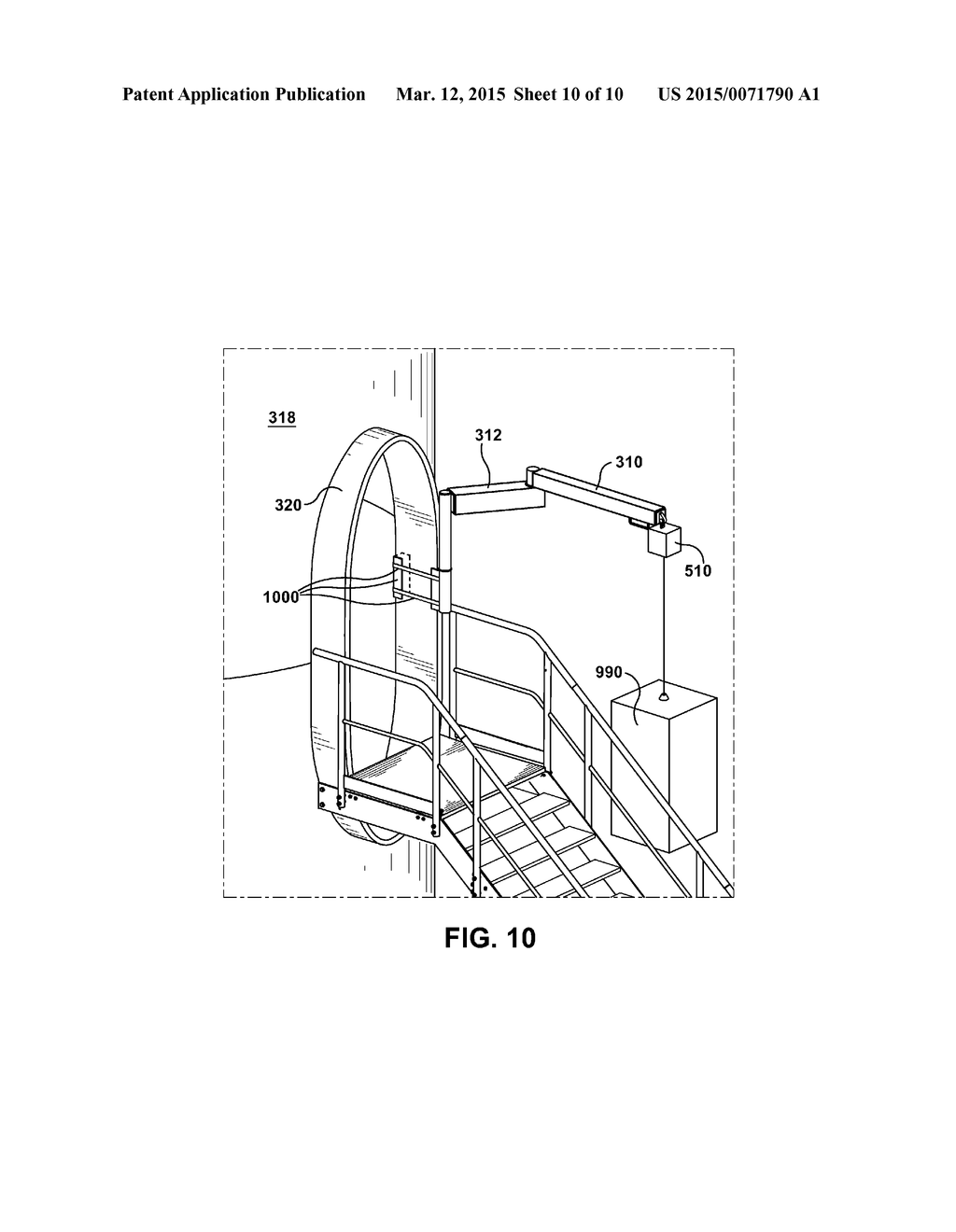 hight resolution of articulated slewing jib crane and wind turbine incorporating same diagram schematic and image 11