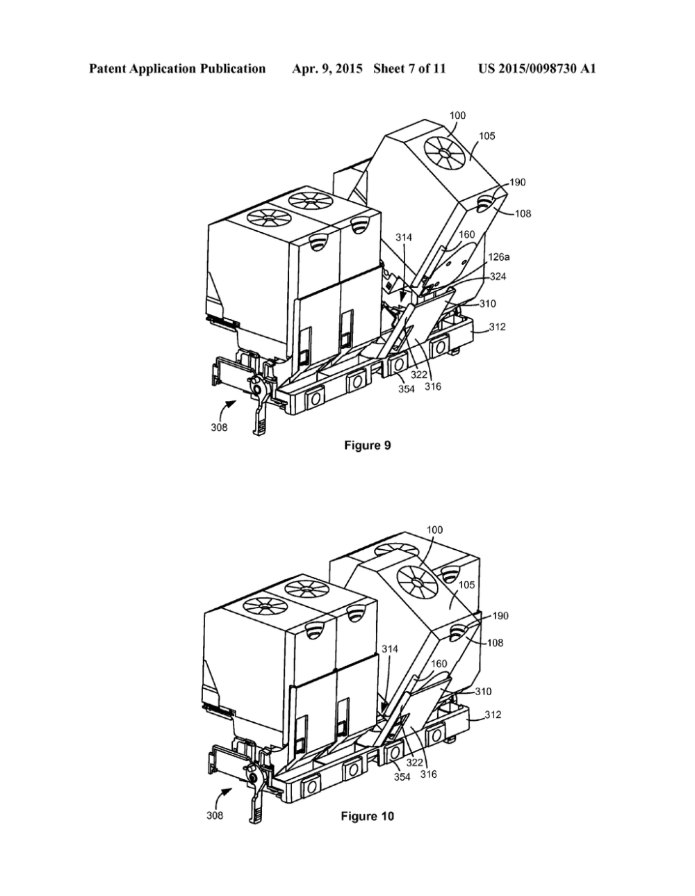 medium resolution of carriage assembly for toner cartridge loading and latching diagram schematic and image 08