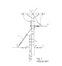 methods and apparatuses of supporting and bracing a utility pole diagram schematic and image 02 [ 1024 x 1320 Pixel ]
