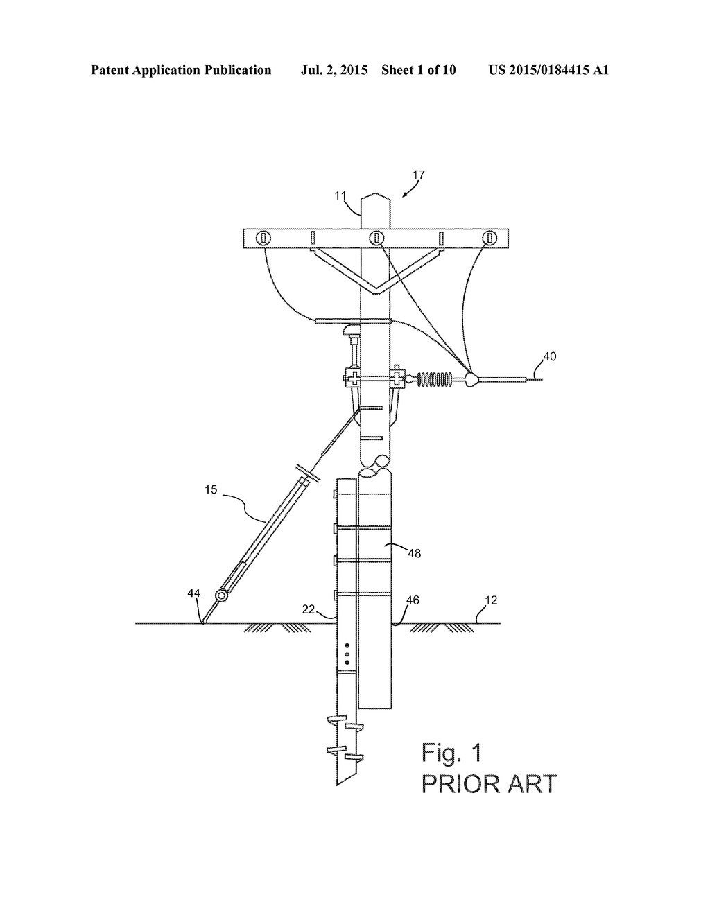 hight resolution of methods and apparatuses of supporting and bracing a utility pole diagram schematic and image 02