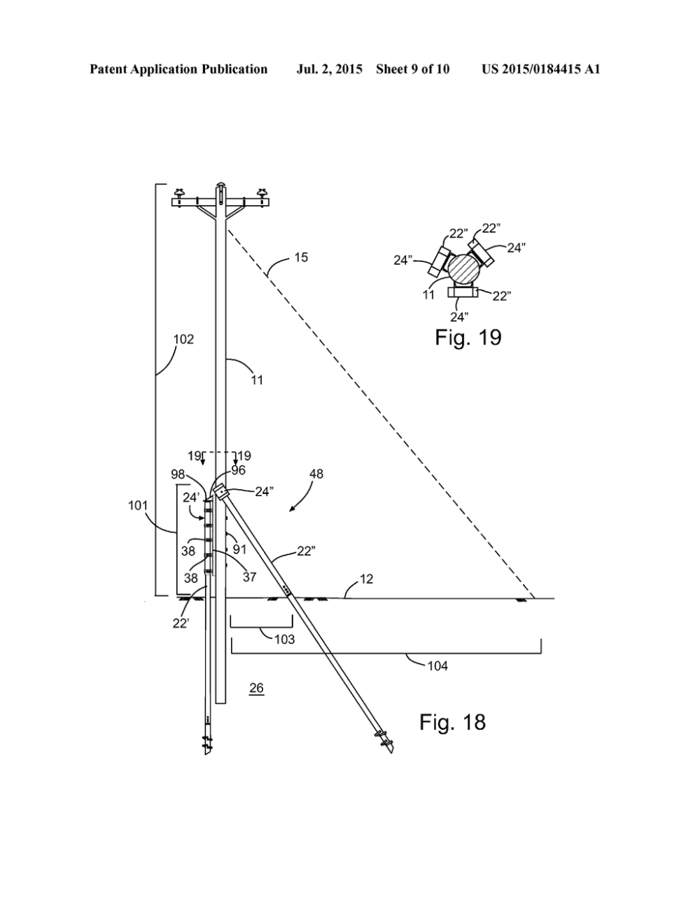 medium resolution of methods and apparatuses of supporting and bracing a utility pole diagram schematic and image 10