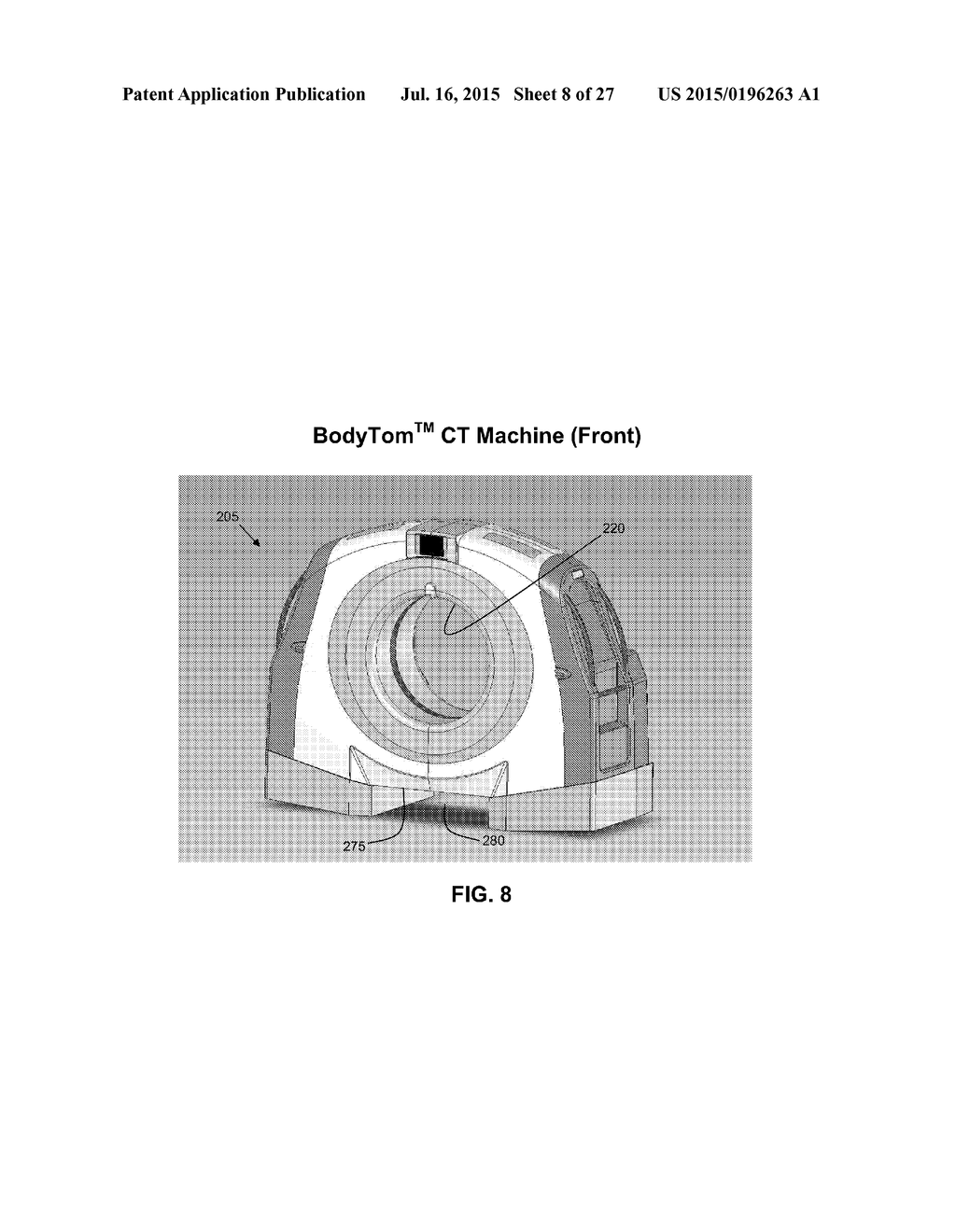 hight resolution of anatomical imaging system with centipede scanning drive bottom notch to accommodate base of patient support and motorized drive for transporting the