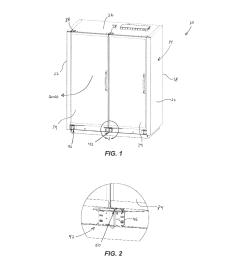 door closer mechanism for display case diagram schematic and image 02 [ 1024 x 1320 Pixel ]