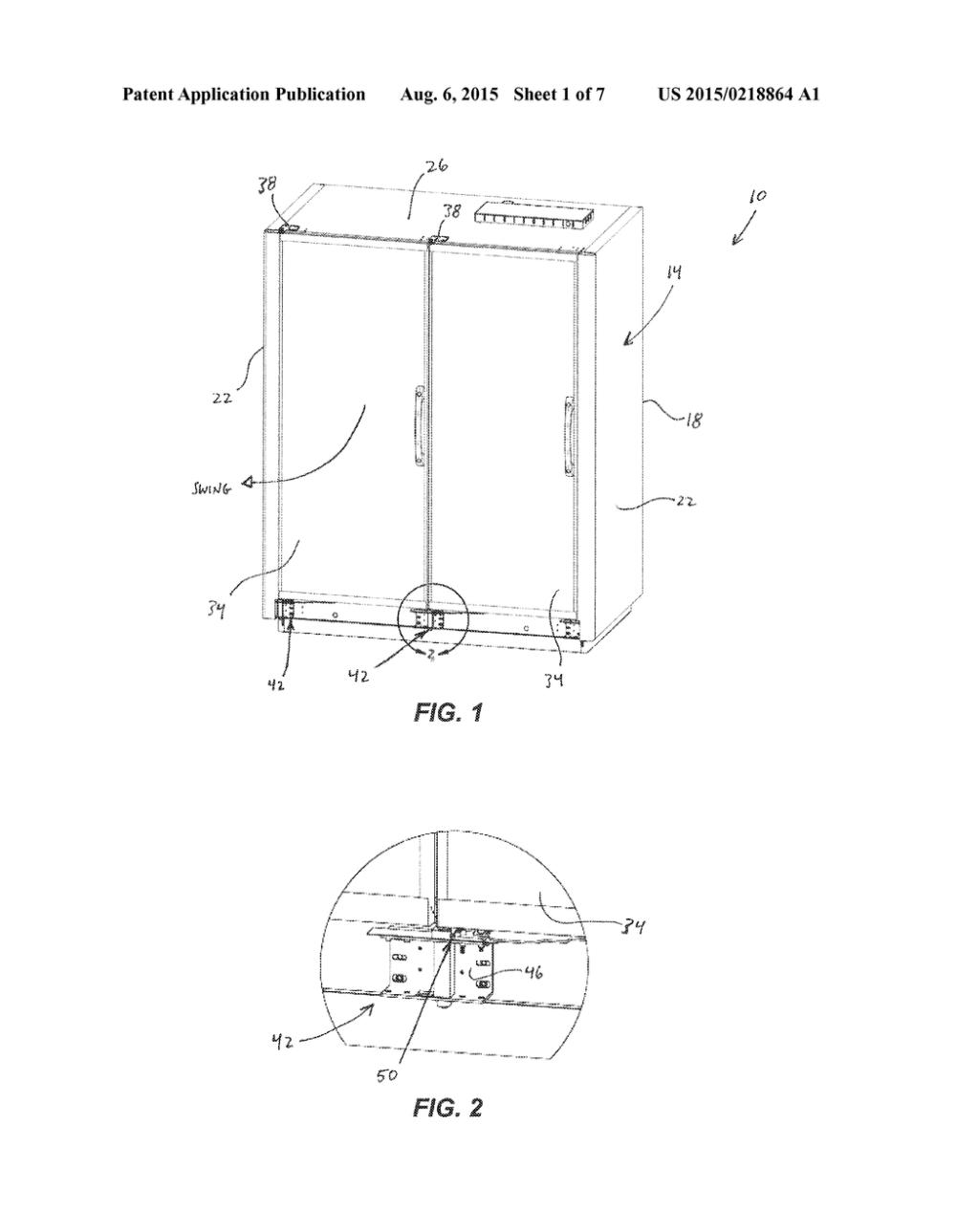 medium resolution of door closer mechanism for display case diagram schematic and image 02