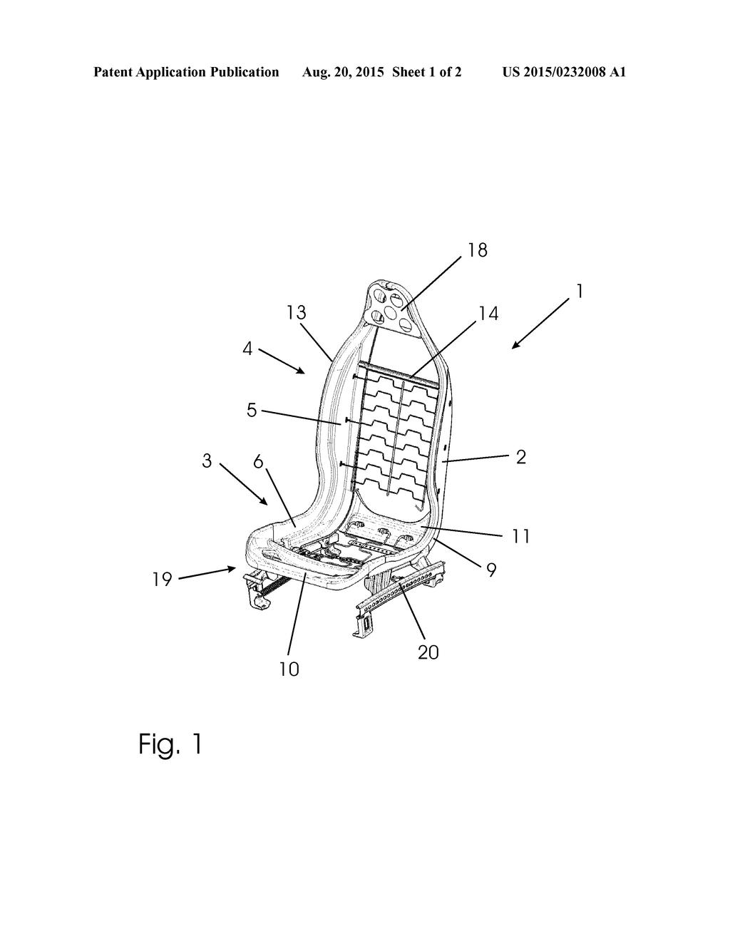 hight resolution of bucket seat diagram