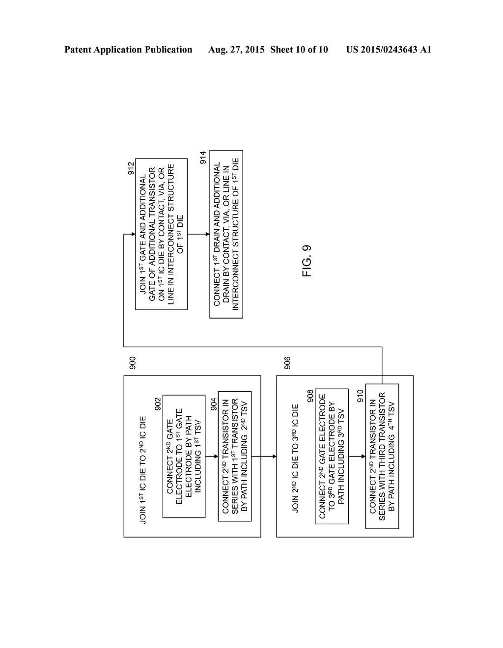 hight resolution of 3d ic with serial gate mos device and method of making the 3d ic diagram schematic and image 11