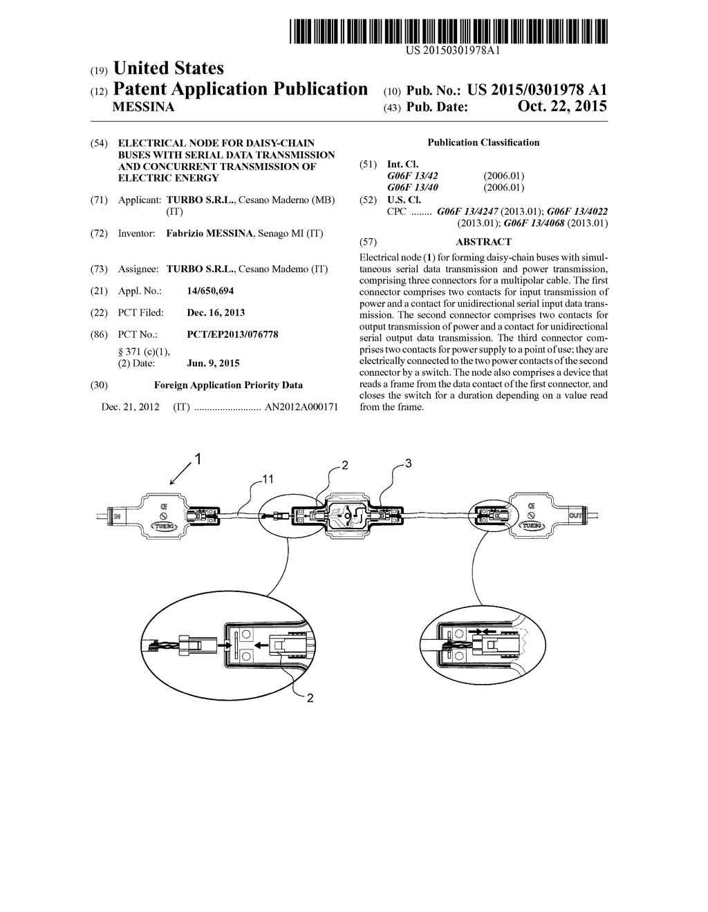 hight resolution of electrical node for daisy chain buses with serial data transmission and concurrent transmission of electric energy diagram schematic and image 01
