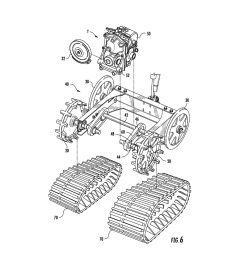 drive shaft bearing structure assemblies for snowblower track type driven sprocket and related methods diagram schematic and image 07 [ 1024 x 1320 Pixel ]