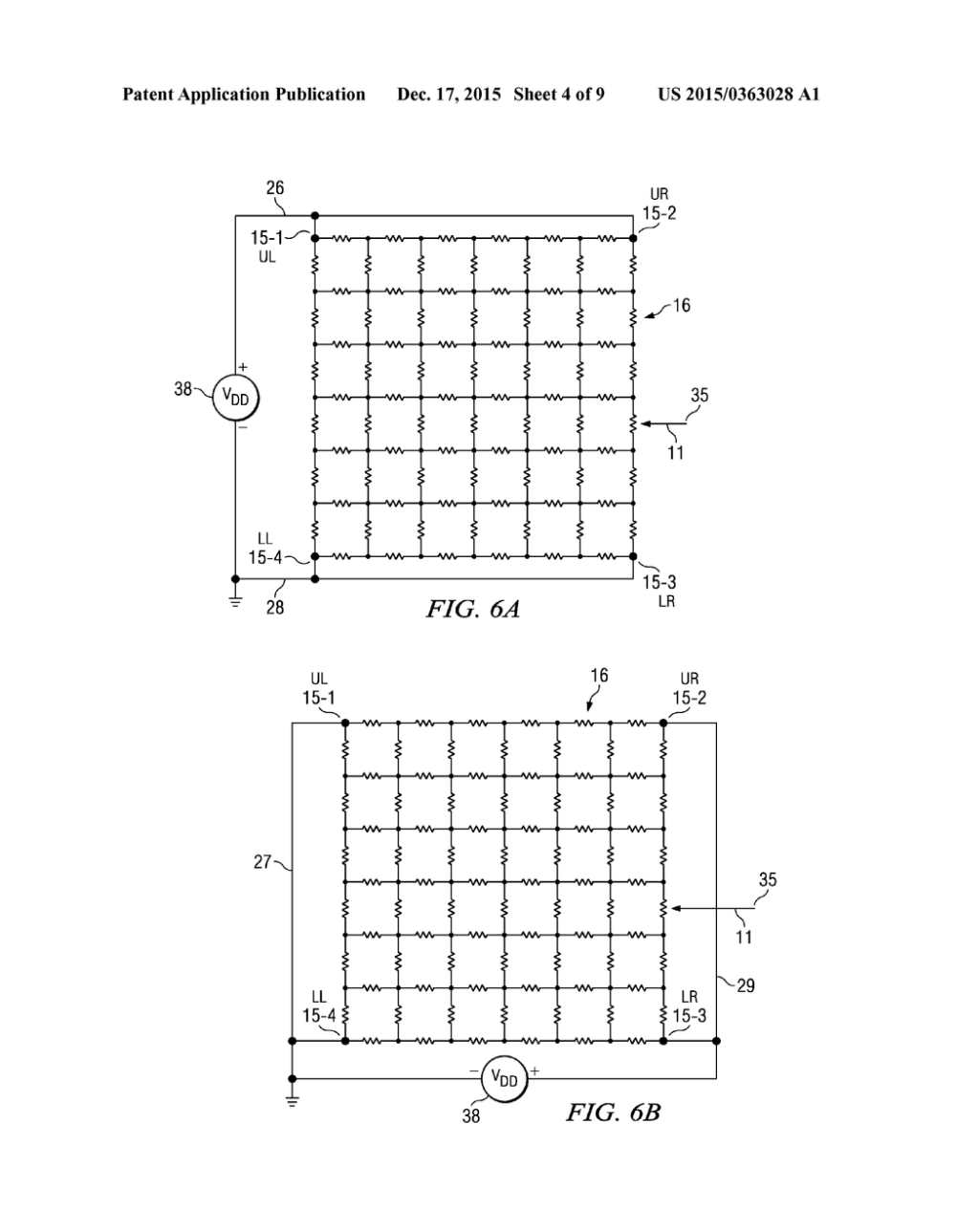 medium resolution of 5 wire resistive touch screen pressure measurement circuit and method diagram schematic and image 05
