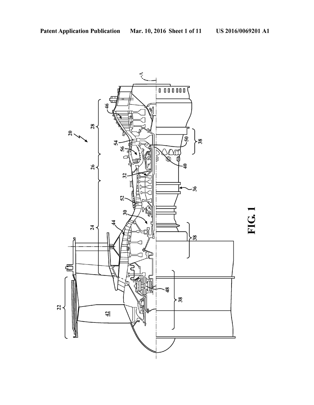 hight resolution of attachment faces for clamped turbine stator of a gas turbine engine diagram schematic