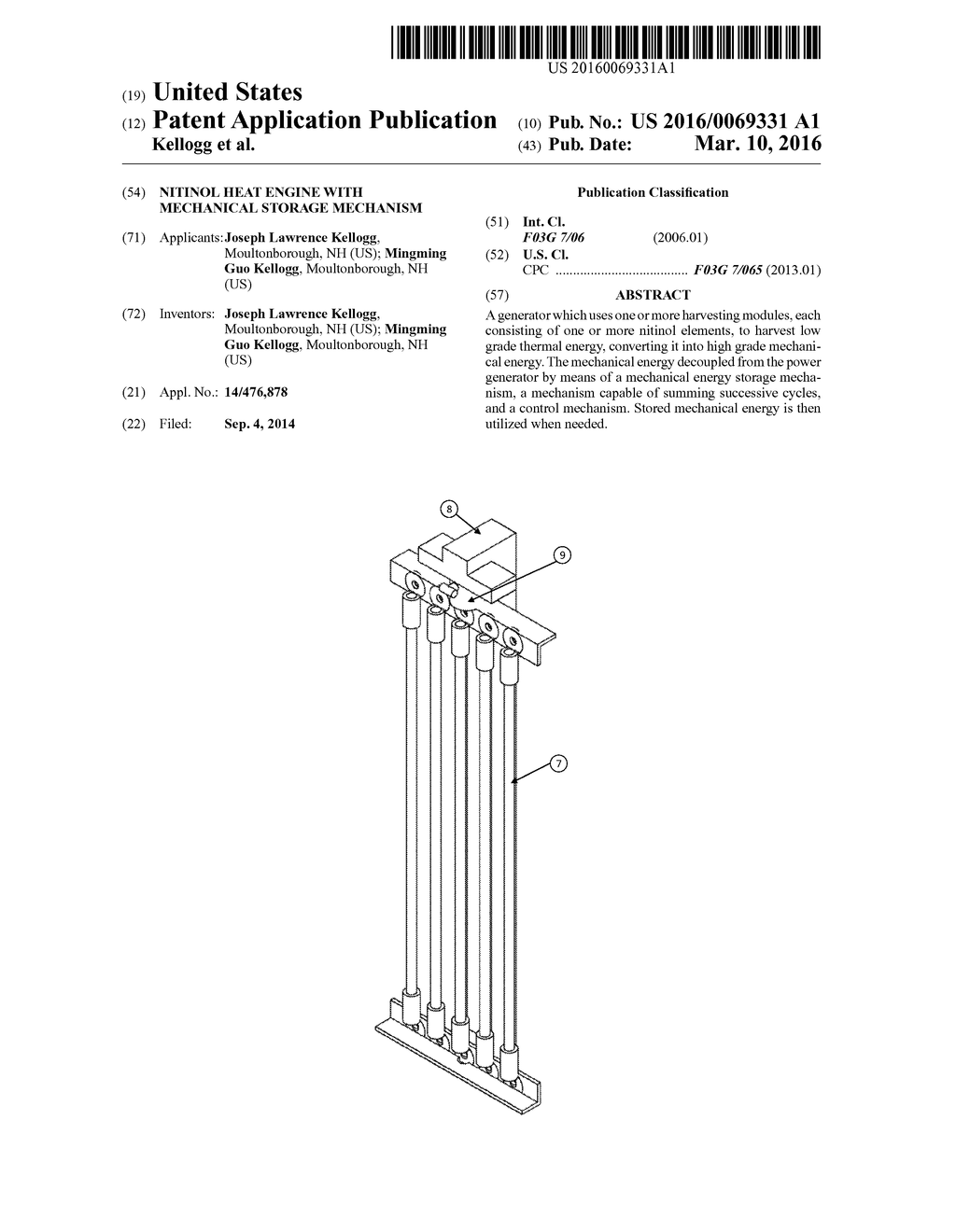 hight resolution of nitinol heat engine with mechanical storage mechanism diagram schematic and image 01