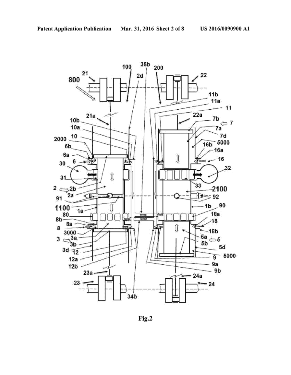 medium resolution of multi cylinder opposed stepped piston engine diagram schematic and image 03