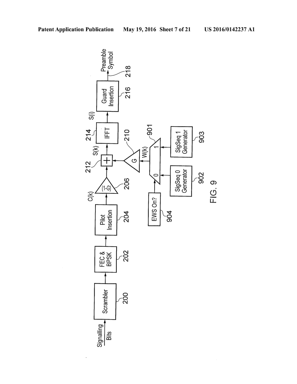 hight resolution of implicit signalling in ofdm preamble with embedded signature sequence and cyclic prefix and postfix aided signature detection diagram schematic