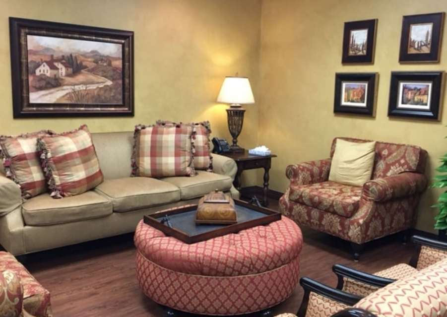 Dallas pate rehab reception room with couches