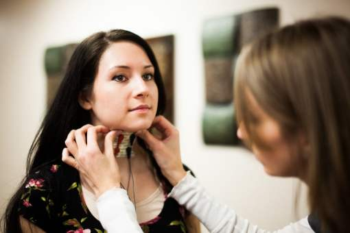 woman wiht vital stim therapy