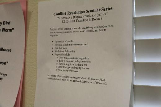 conflict resolution class flier