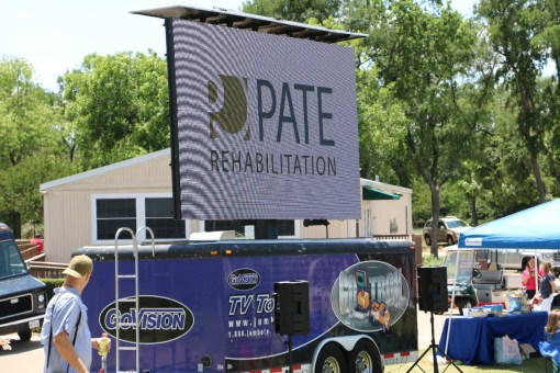 pate sign at pmr charity golf tournament