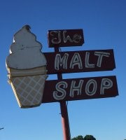 malt shop sign