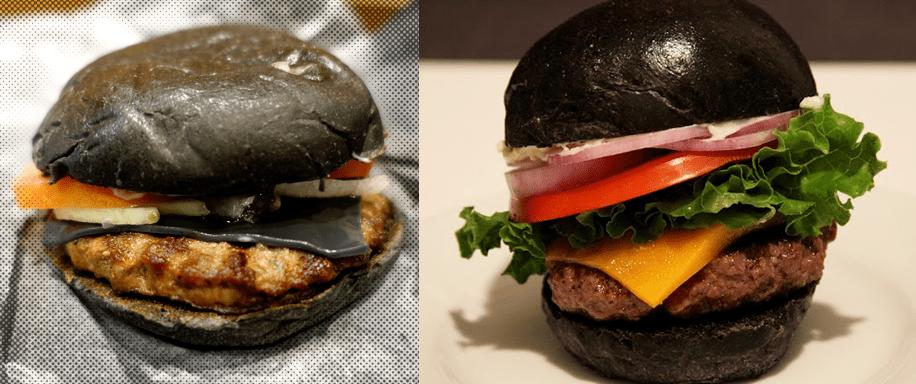Black Burger W Squid Ink Brioche Buns Recipe Pâté Smith - Black hamburger