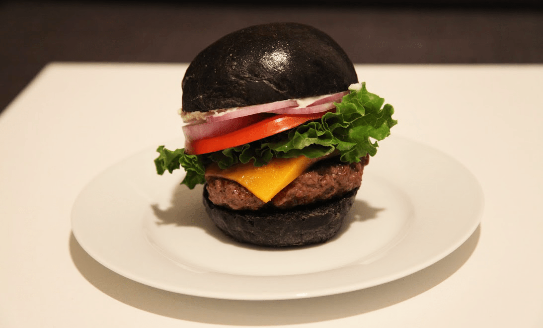 Burger King Squid Ink Black Burger with Squid Ink Buns