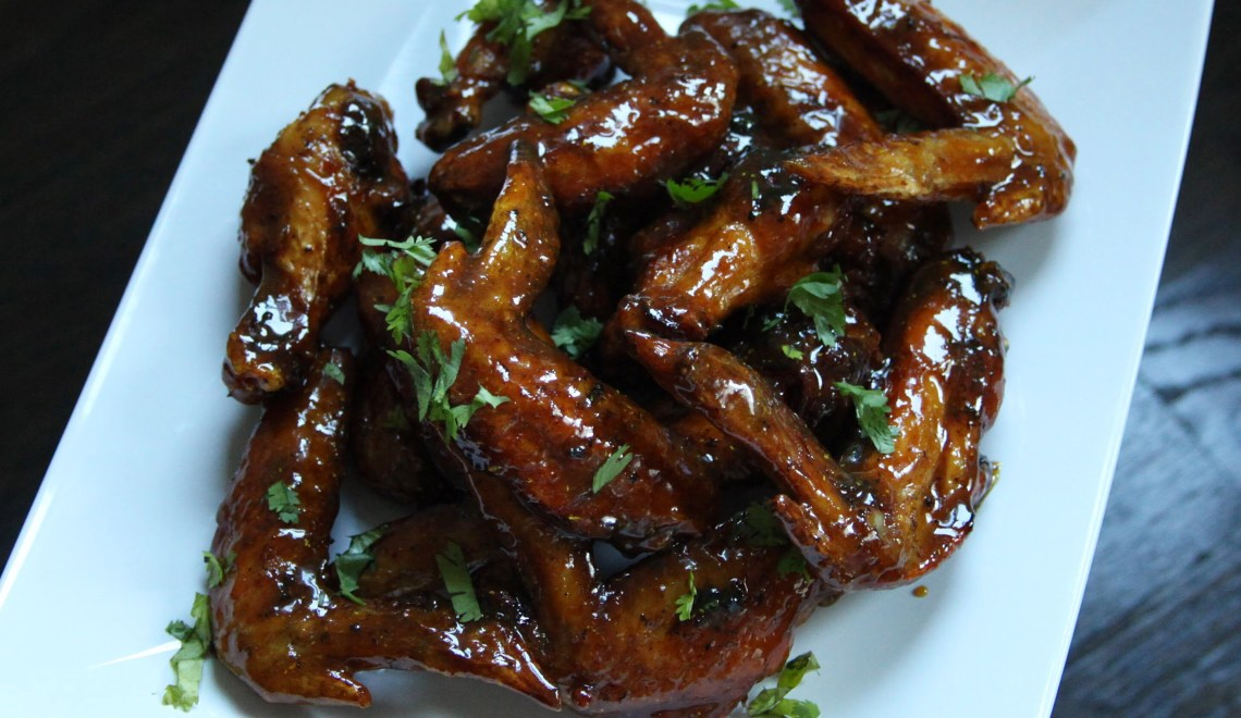 Tamarind Chicken Wings with White Hot Sauce