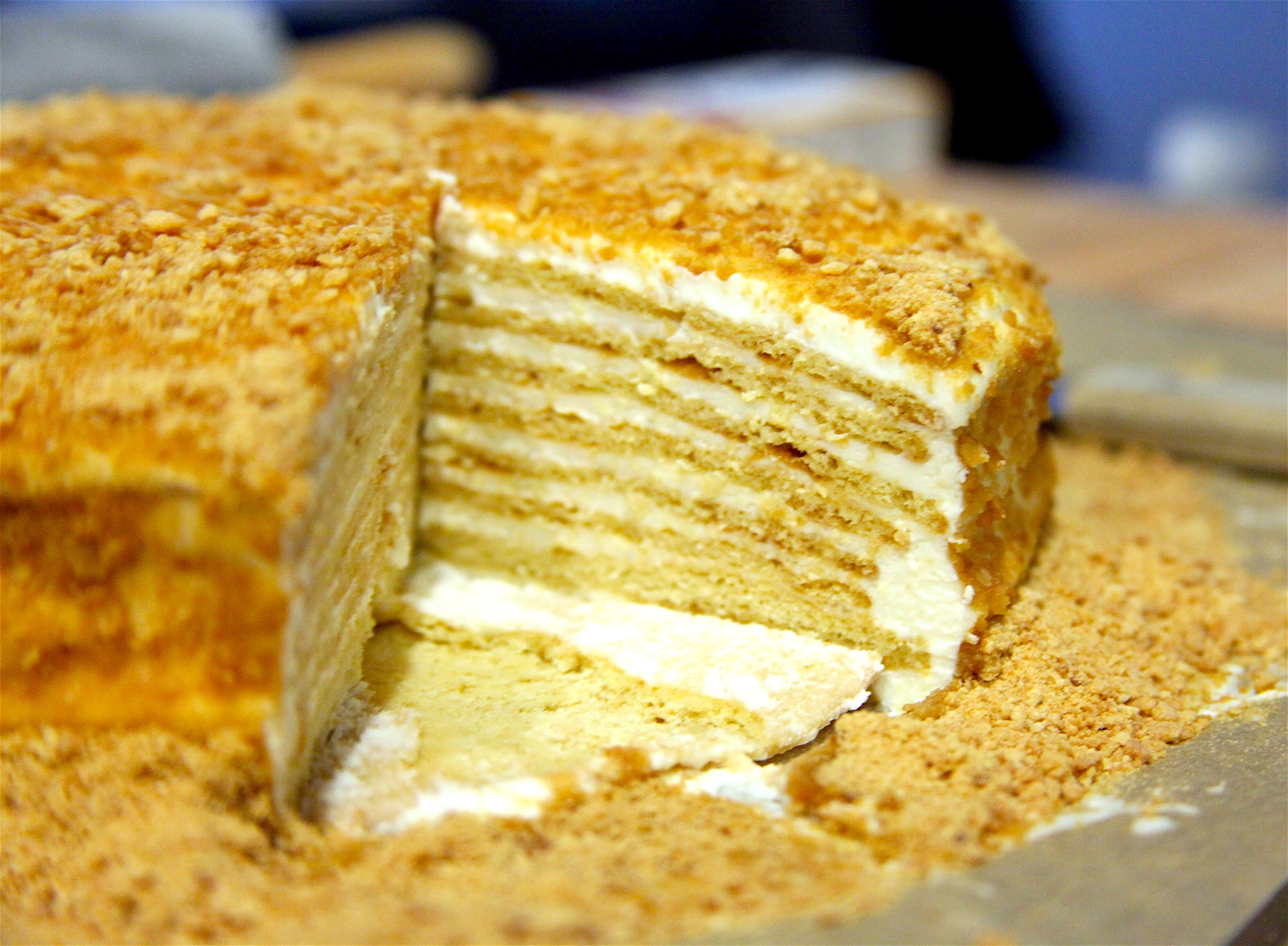 Images Of Cake With Name Honey : Medovik Tort: 15-Layer Russian Honey Cake Pate Smith