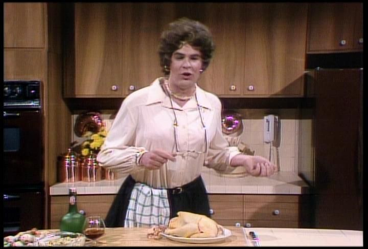"Dan Aykroyd plays Julia Child in ""The French Chef"" on SNL"
