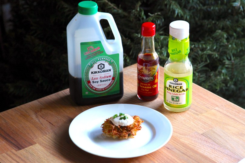 Scallion Latkes with Sesame Cream (Asian Latkes) Recipe