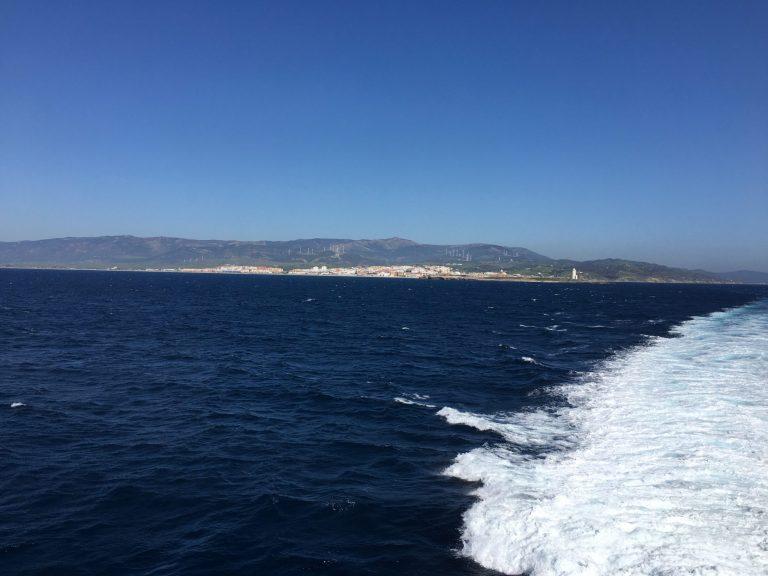 Strait of Gibraltar, Tarifa Spain in the background
