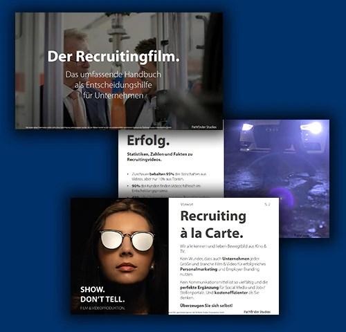 Recruitingfilm Handbuch Banner