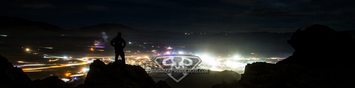 Hammertown after dark - Self Portrait of Brady Melville Pathmaker Productions at King of the Hammers 2017
