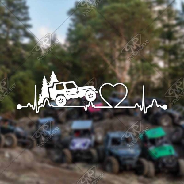 Heartbeat Jeep Decal