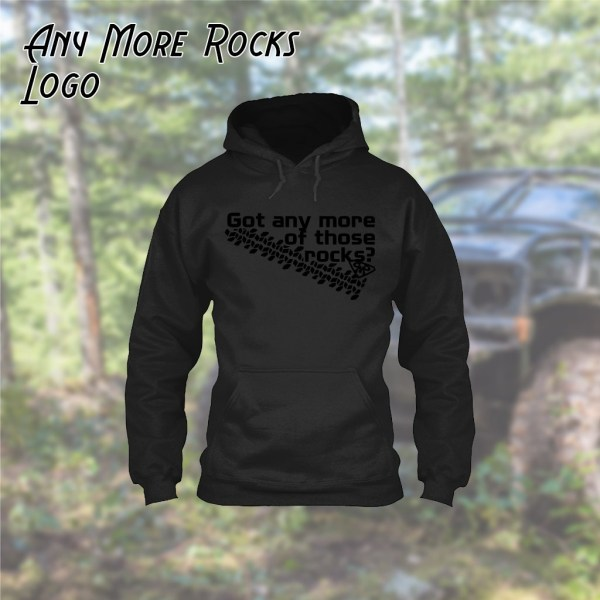 Any More Rocks Logo Hoodie