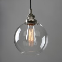 Retro Industrial Lamp Silver Brushed Ceiling Pendant Light ...