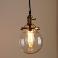Contemporary Multi-lights Glass Globe Shade Pendant Light