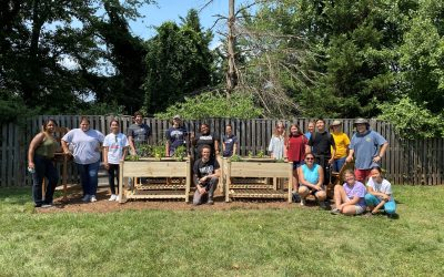 Volunteers Build Community Garden to Promote Nutrition and Wellness to Those We Serve