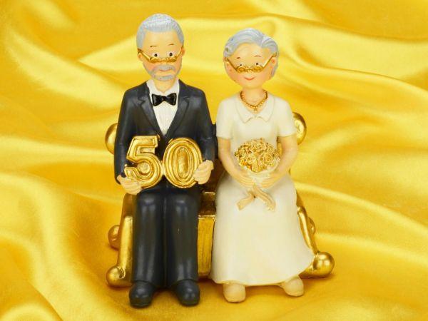 Tortenaufsatz goldene Hochzeit  Tortenaufstze  PatiVersand