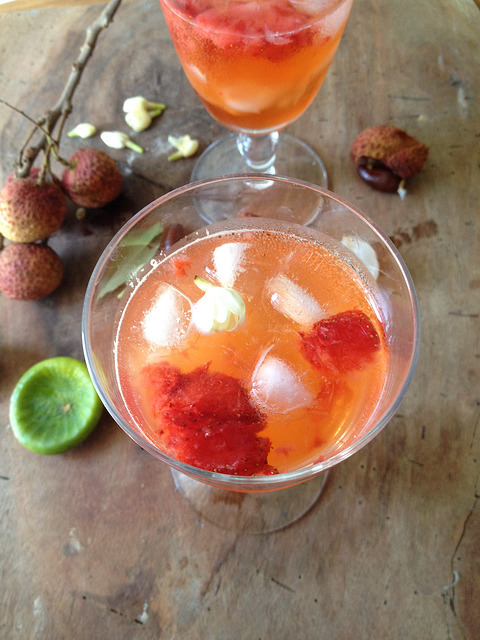 Jasmine-Infused Lychee Cooler