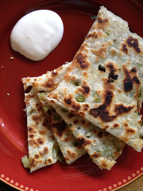 Cong you bing [Green Onion Flatbread]