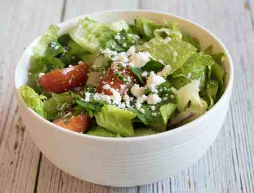 greek inspired chopped salad