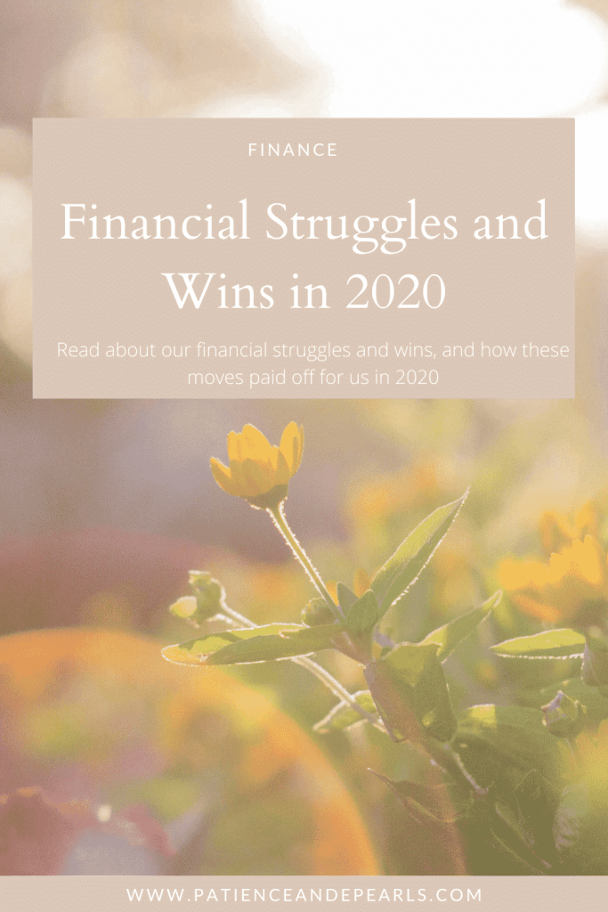 Patience & Pearls - Financial Struggles & Wins in 2020 - Pinterest