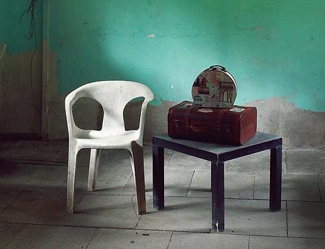 no furniture, old room