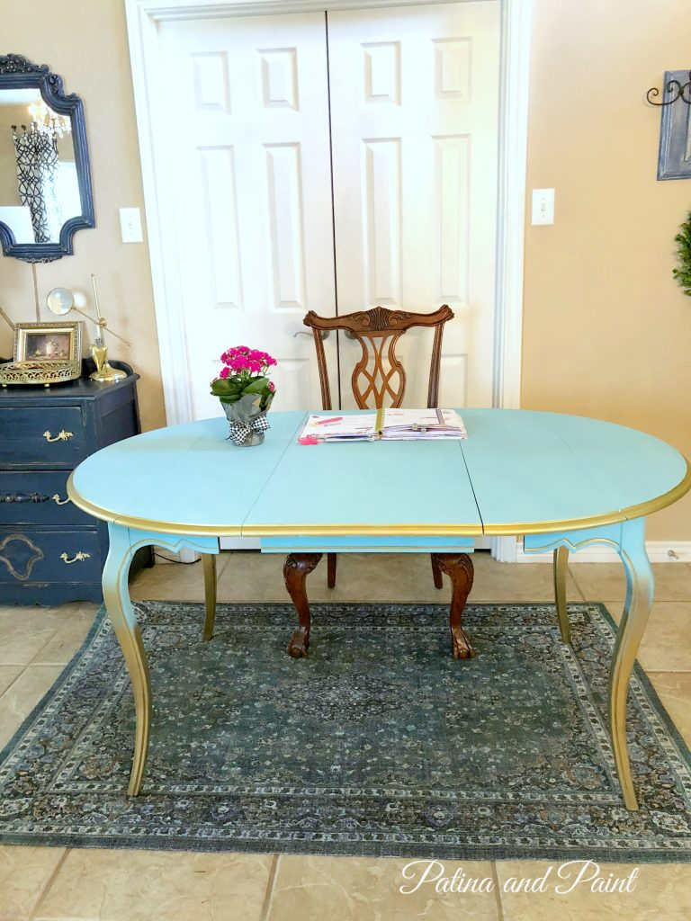 A Magic Table Before and After - Patina and Paint