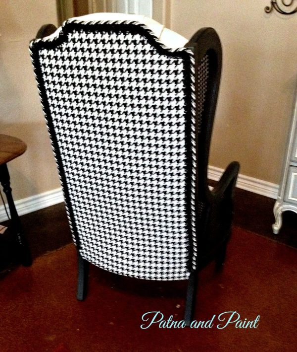 Black and white chair back