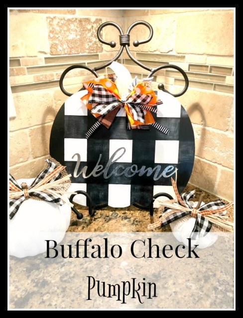 Buffalo Check pumpkin