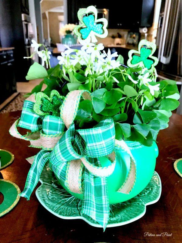St. Patrick's Day centerpiece